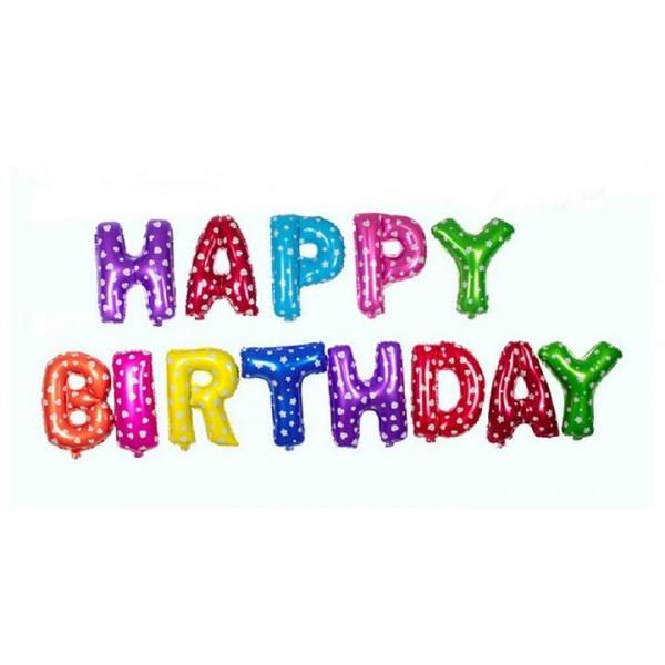 Happy Birthday字母氣球