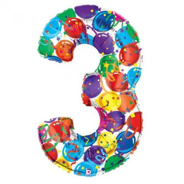 氣球飾帶 - 3字