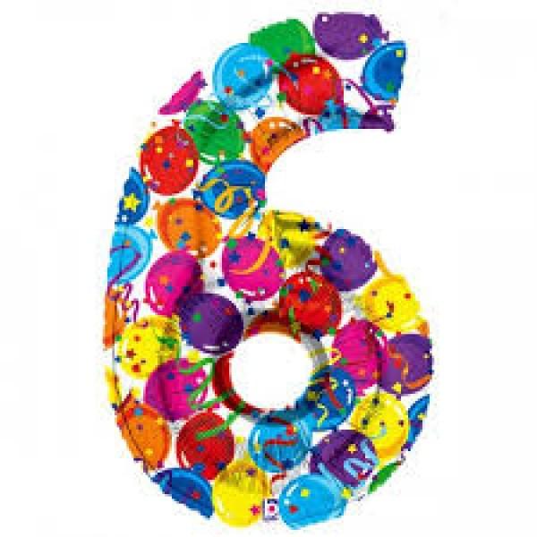 氣球飾帶 - 6字